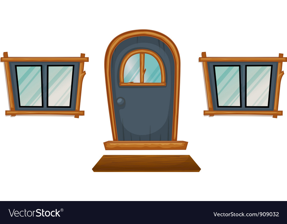 Isolated windows and a door vector | Price: 3 Credit (USD $3)