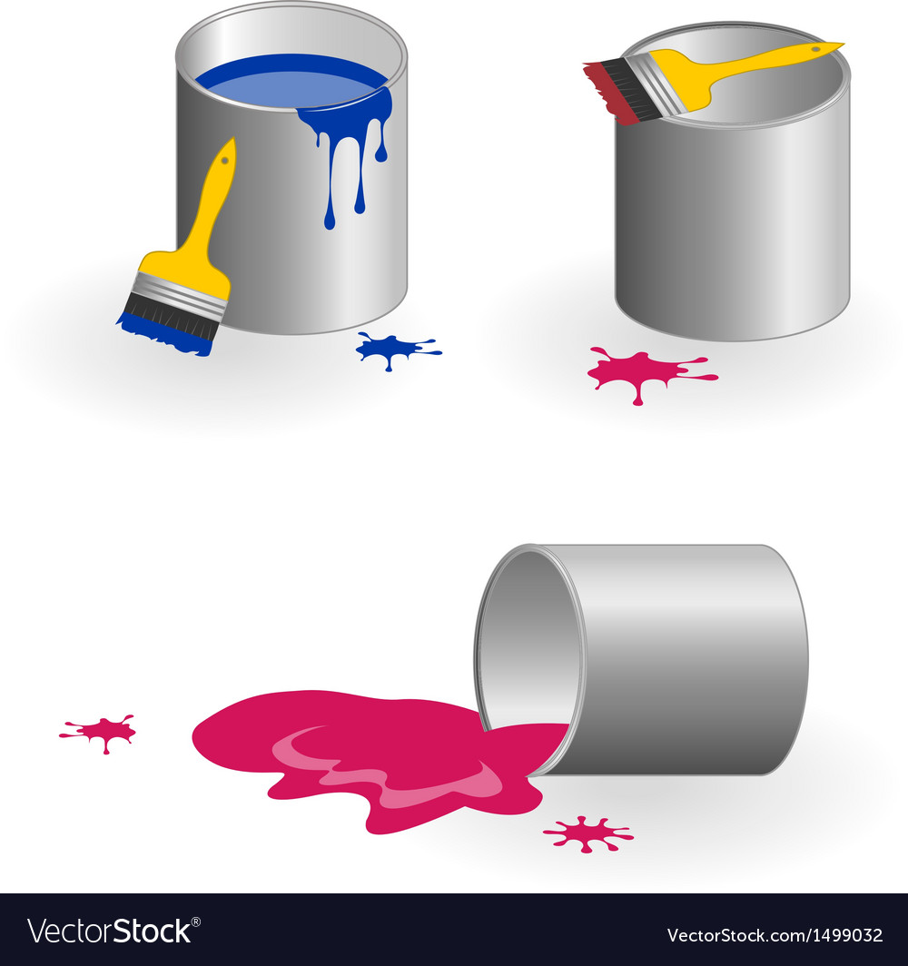 Jars of paint vector | Price: 1 Credit (USD $1)