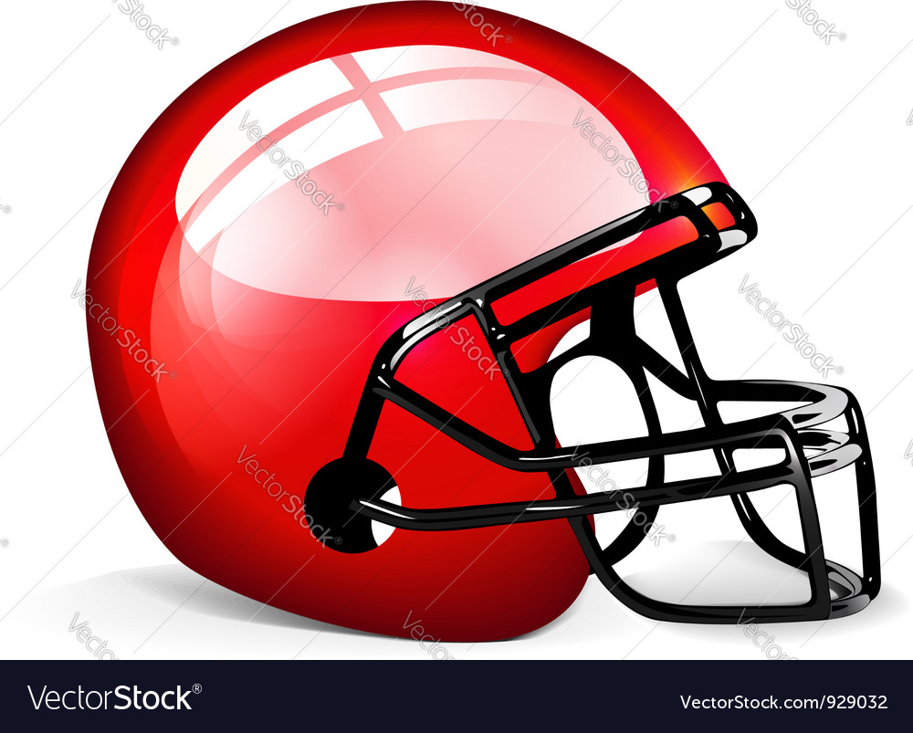Red football helmet vector | Price: 3 Credit (USD $3)