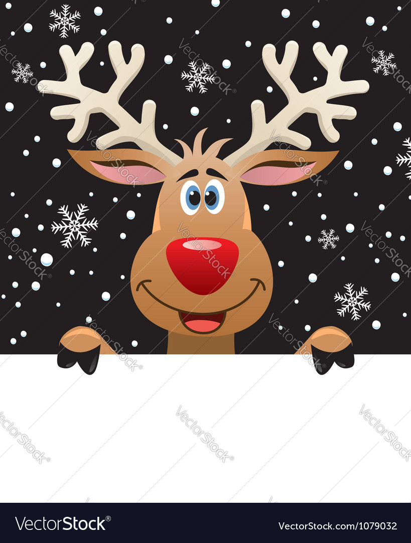 Rudolph deer vector | Price: 1 Credit (USD $1)