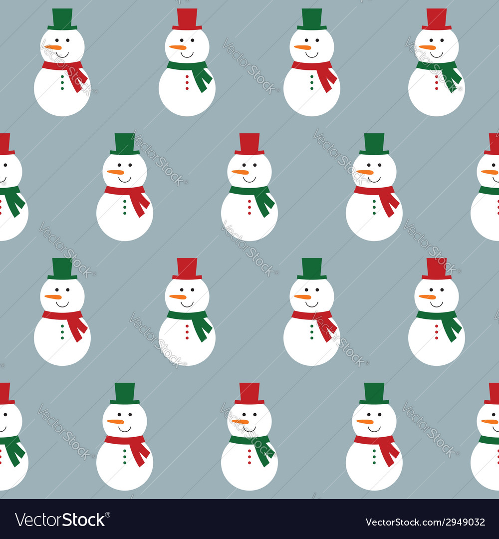 Seamless pattern with snowmen vector | Price: 1 Credit (USD $1)