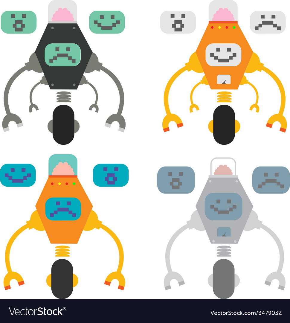 Set of funny robots vector   Price: 1 Credit (USD $1)