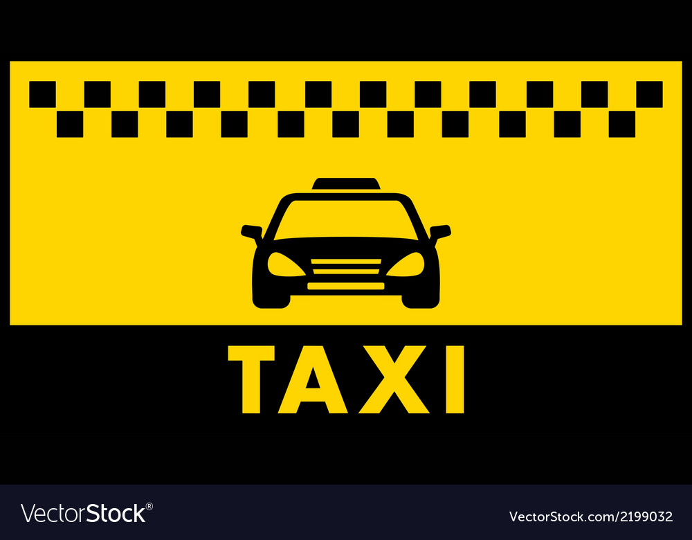 Taxi background with place for text vector | Price: 1 Credit (USD $1)