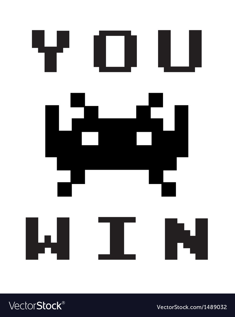 You win vector | Price: 1 Credit (USD $1)