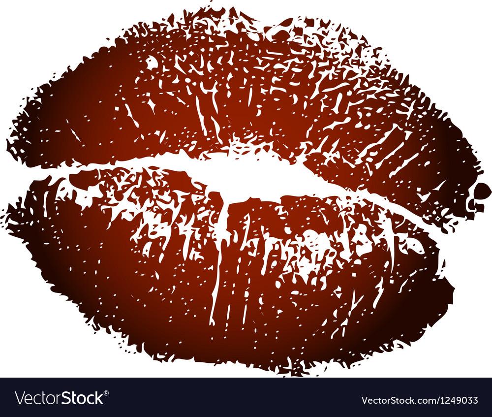 Brown kiss print vector | Price: 1 Credit (USD $1)