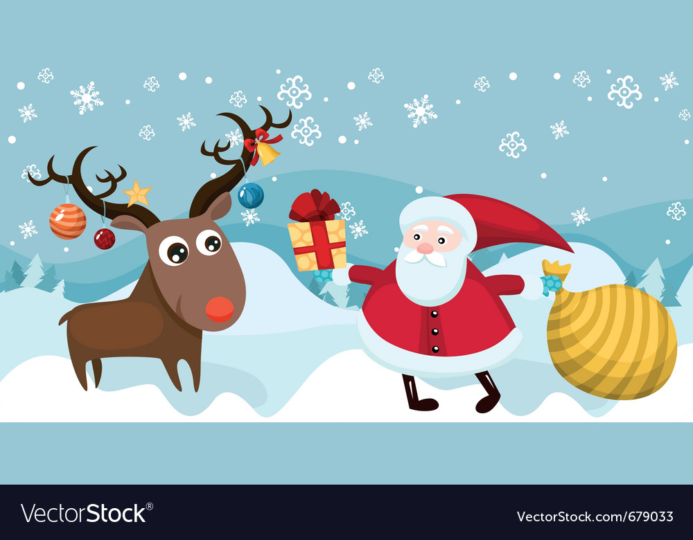 Christmas card vector | Price: 5 Credit (USD $5)