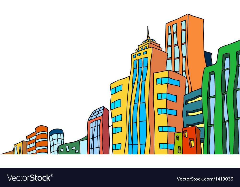 Cityscape sketch vector | Price: 1 Credit (USD $1)