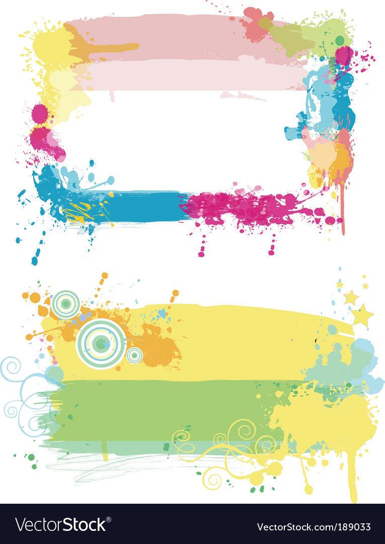 Grunge paint splatter vector | Price: 1 Credit (USD $1)
