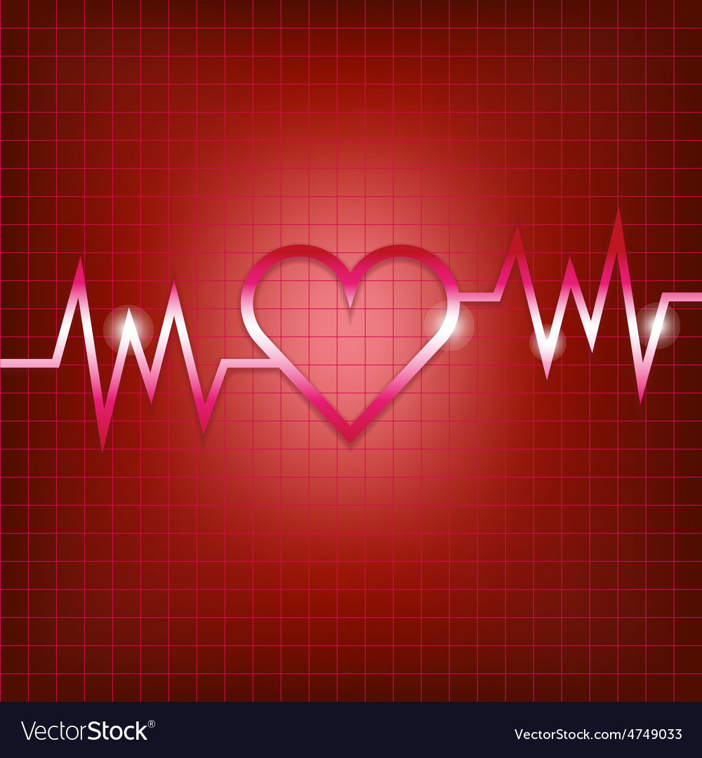 Heart shape concept with pulsation vector | Price: 1 Credit (USD $1)