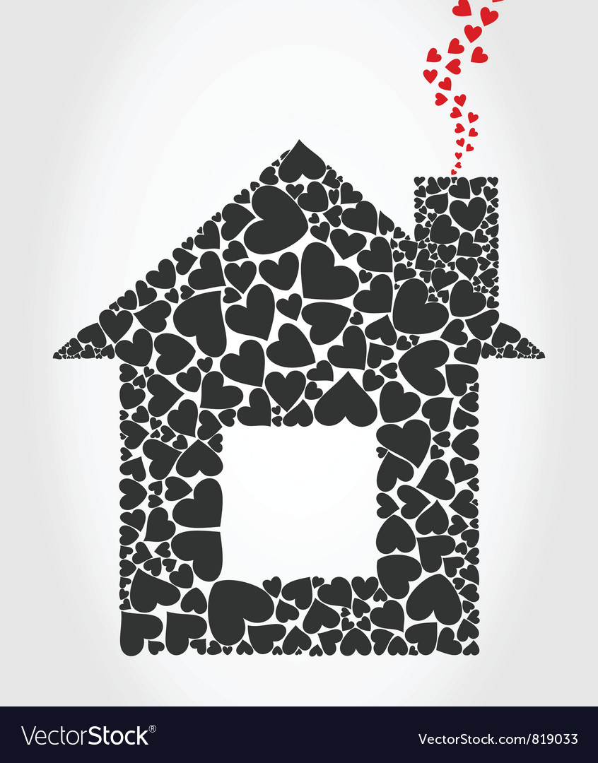 House of hearts vector