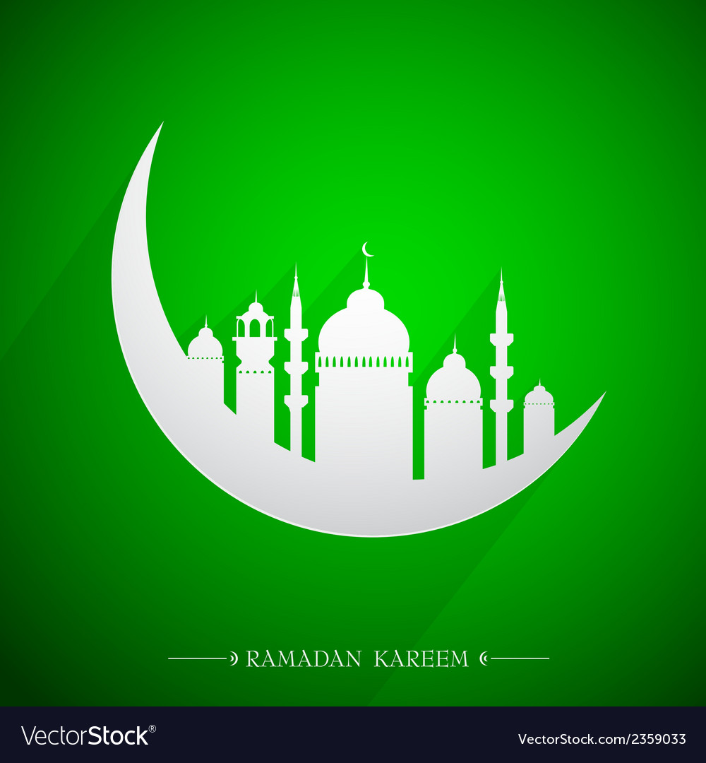 Islamic holy month ramadan emblem vector | Price: 1 Credit (USD $1)