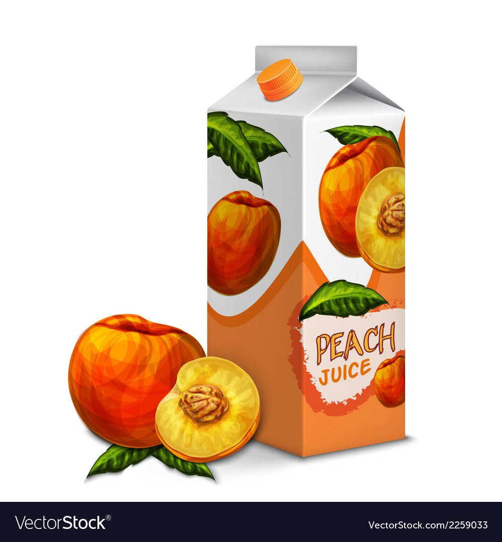 Juice pack peach vector | Price: 1 Credit (USD $1)