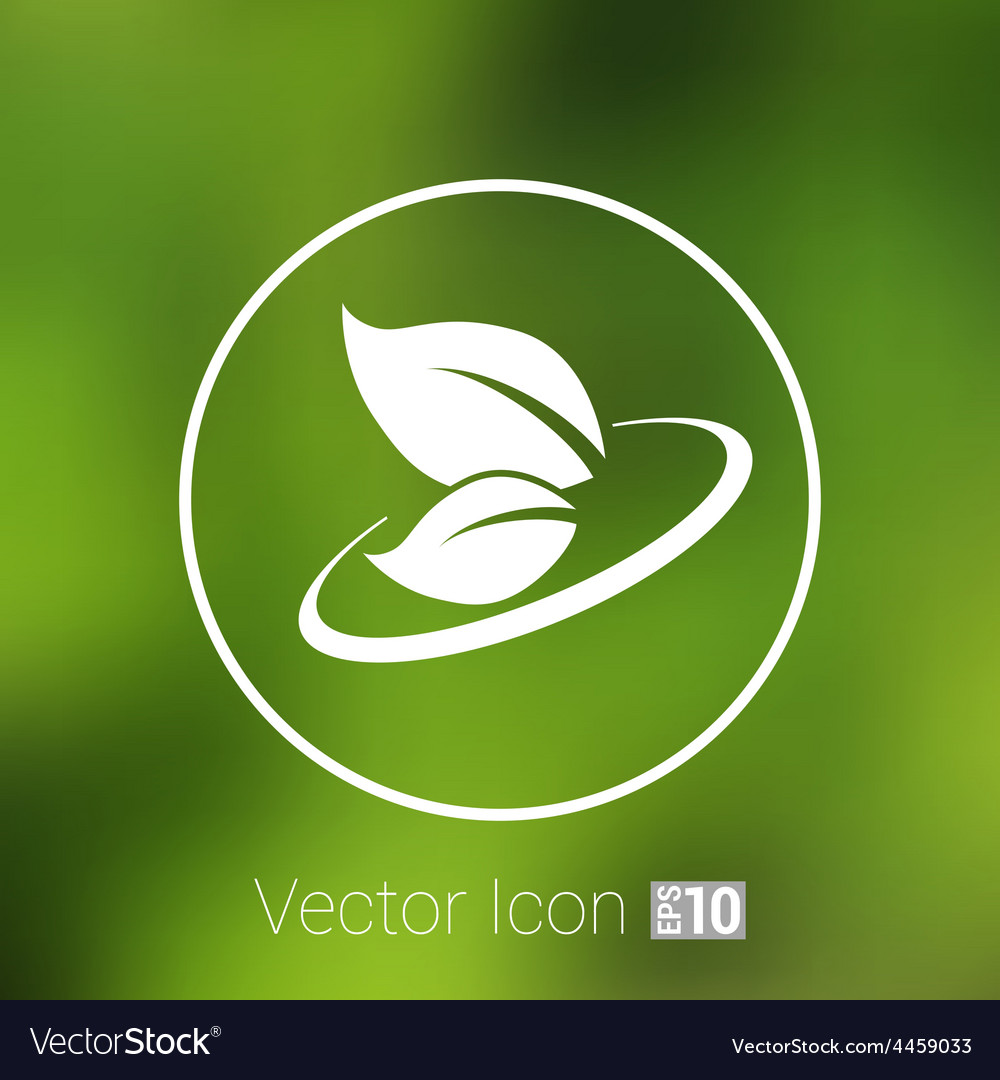 Leaf icon symbol nature sign element vector | Price: 1 Credit (USD $1)