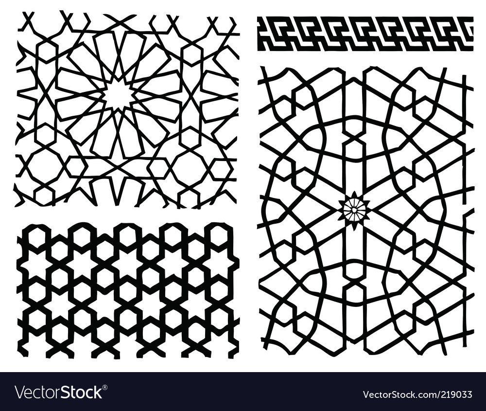 Oriental patterns vector | Price: 1 Credit (USD $1)