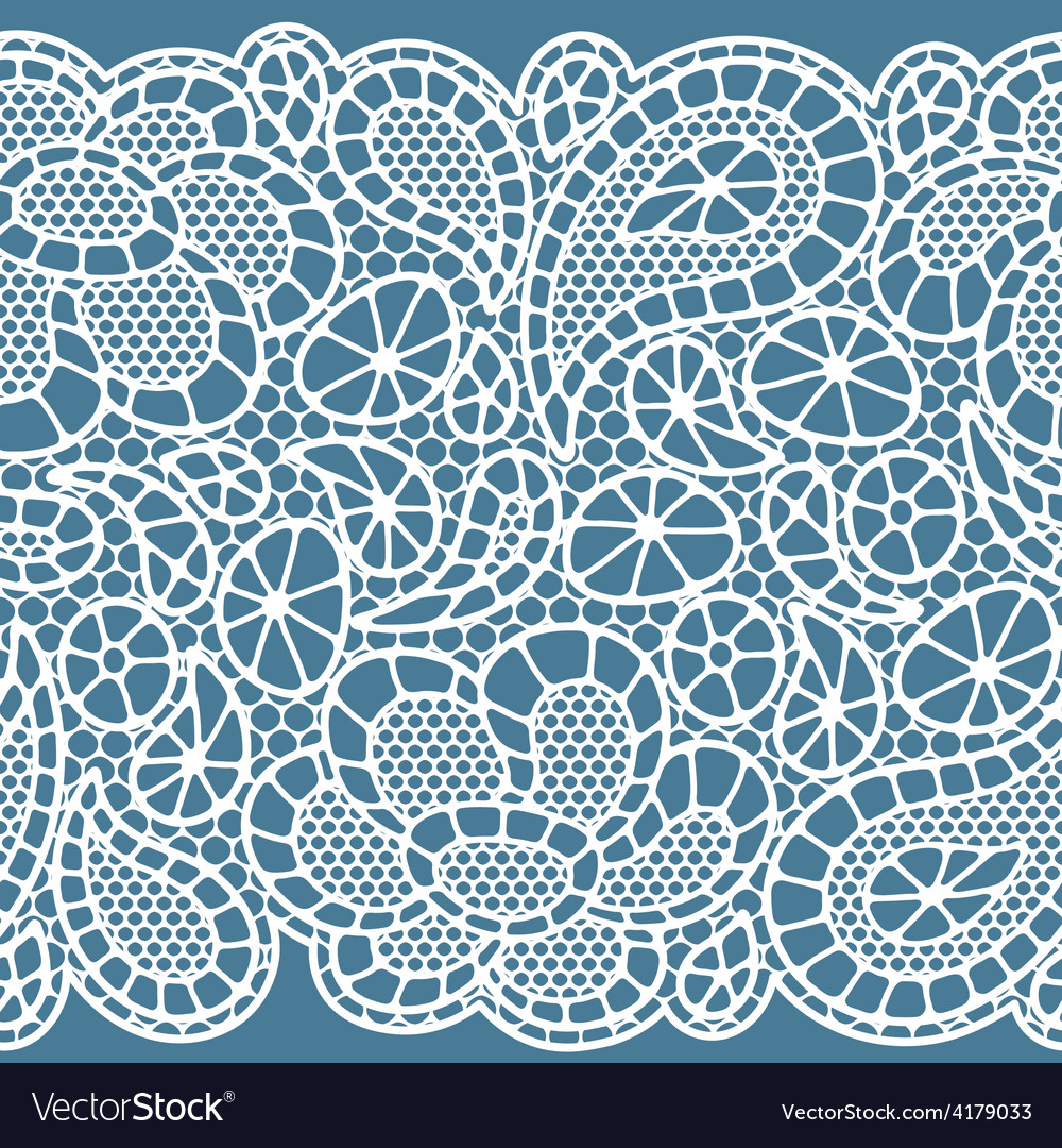 Seamless vintage fashion lace pattern with vector | Price: 1 Credit (USD $1)