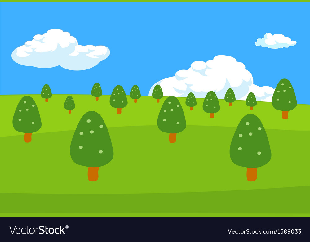 Trees lanscape background vector | Price: 1 Credit (USD $1)