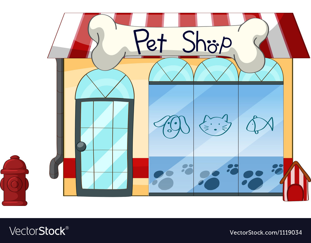 A pet shop vector | Price: 1 Credit (USD $1)