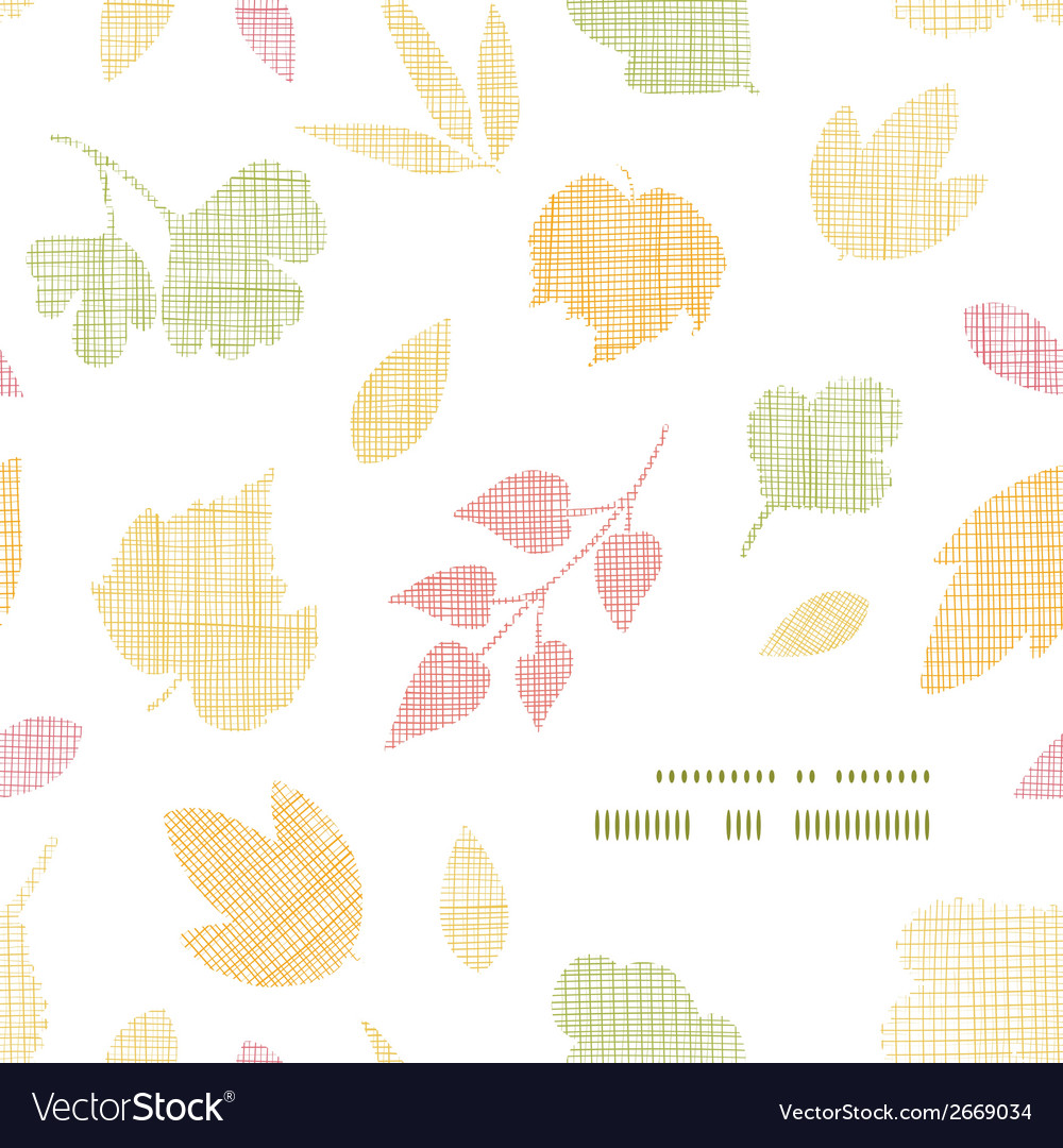 Abstract textile texture fall leaves frame corner vector | Price: 1 Credit (USD $1)