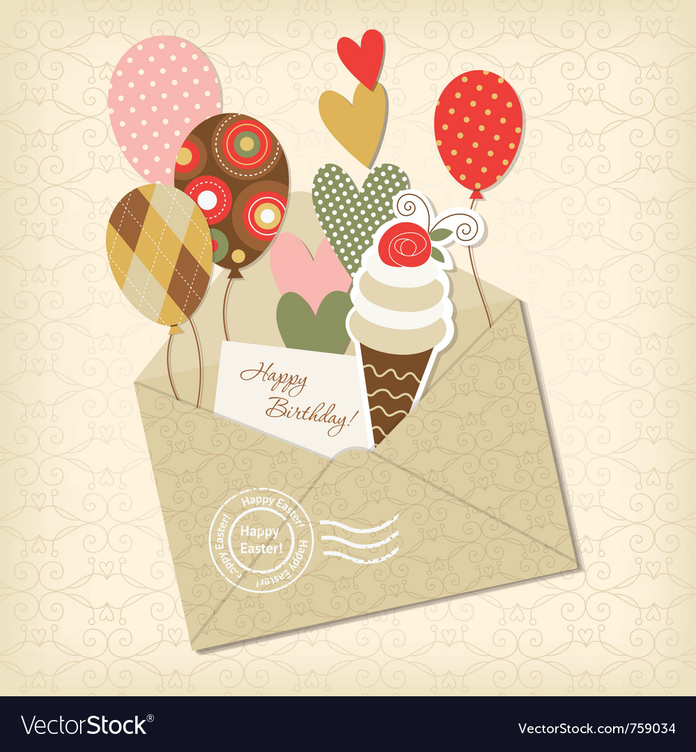 Birthday card and scrapbooking elements vector | Price: 1 Credit (USD $1)