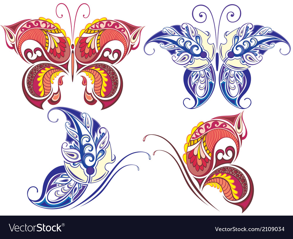 Collection of butterflies vector | Price: 1 Credit (USD $1)