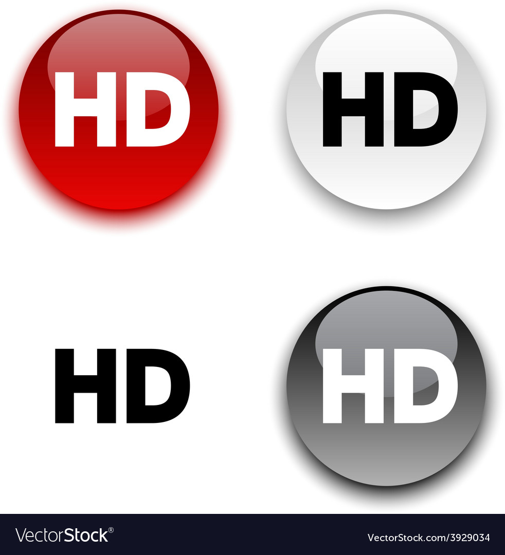Hd button vector | Price: 1 Credit (USD $1)