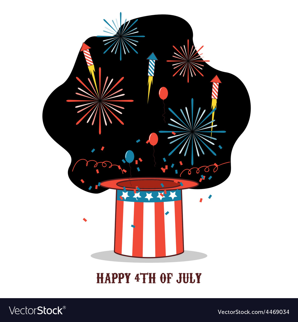 Isolated cartoon celebration of america independen vector | Price: 1 Credit (USD $1)