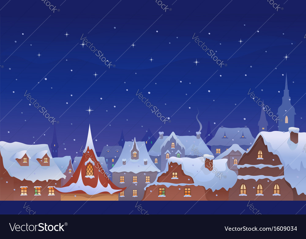 Old town christmas vector | Price: 3 Credit (USD $3)