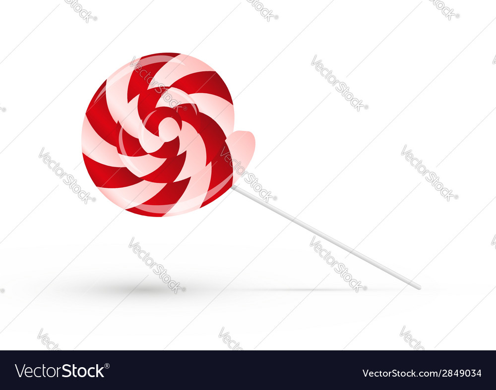 Red lollipop with shadow vector | Price: 1 Credit (USD $1)