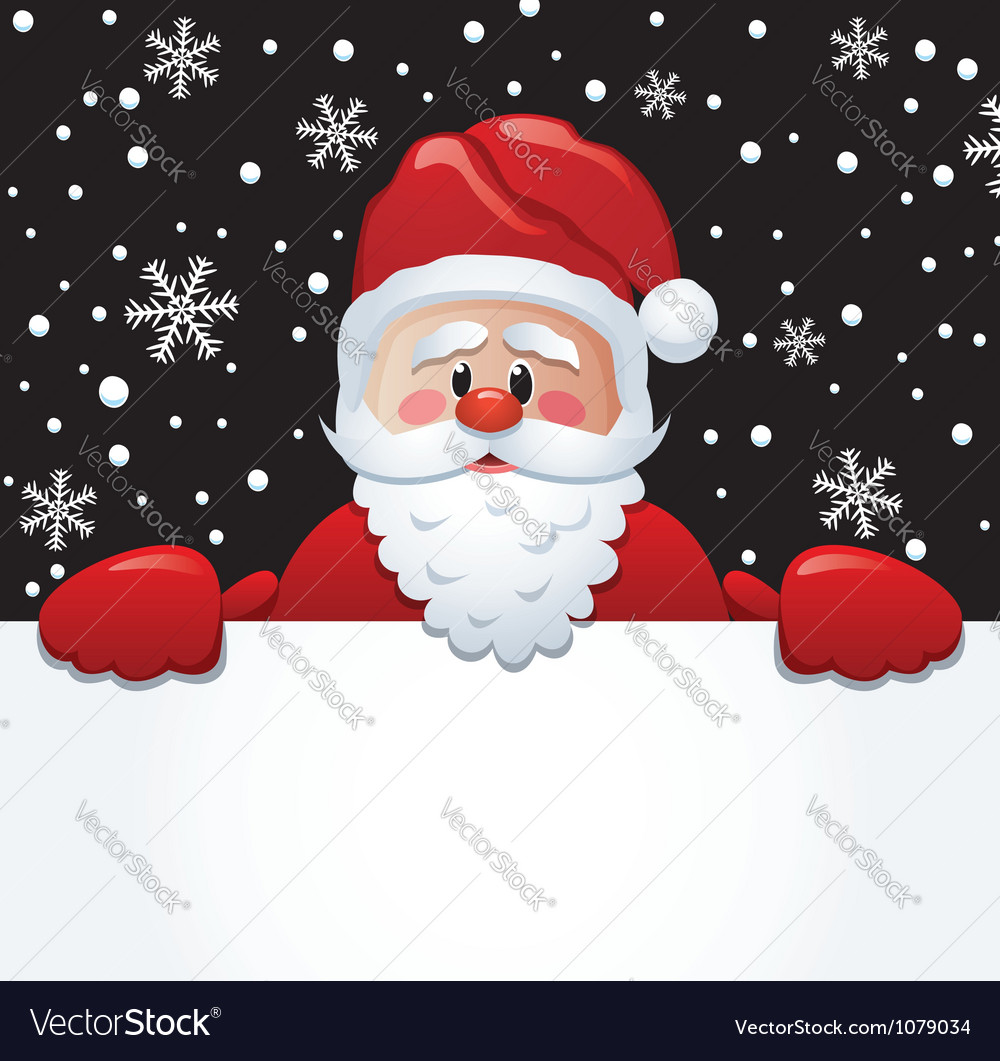 Santa holding paper vector | Price: 1 Credit (USD $1)