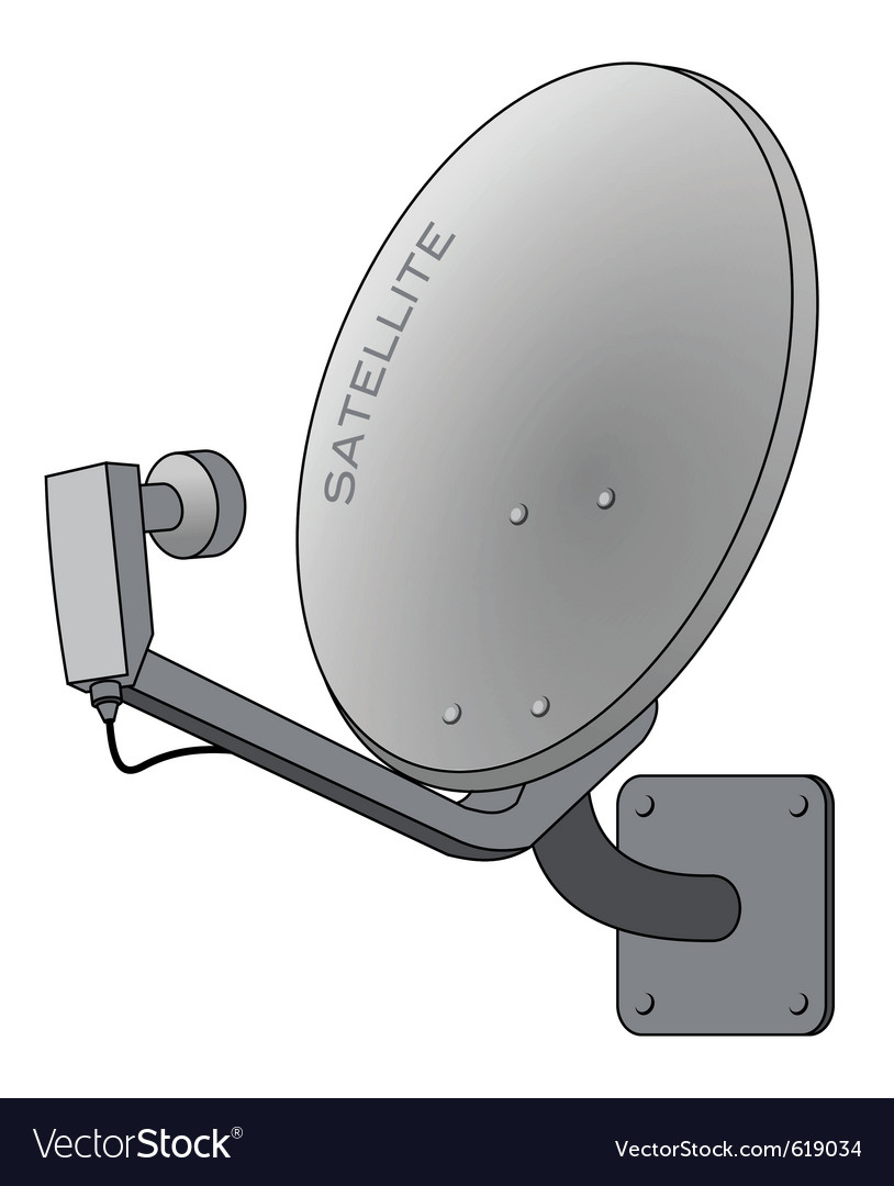 Satellite dish isolated on white vector | Price: 1 Credit (USD $1)