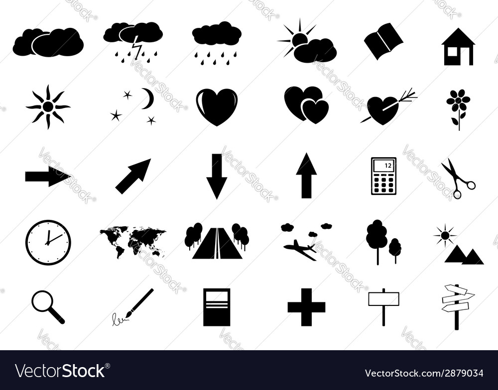 Set of small icons vector | Price: 1 Credit (USD $1)