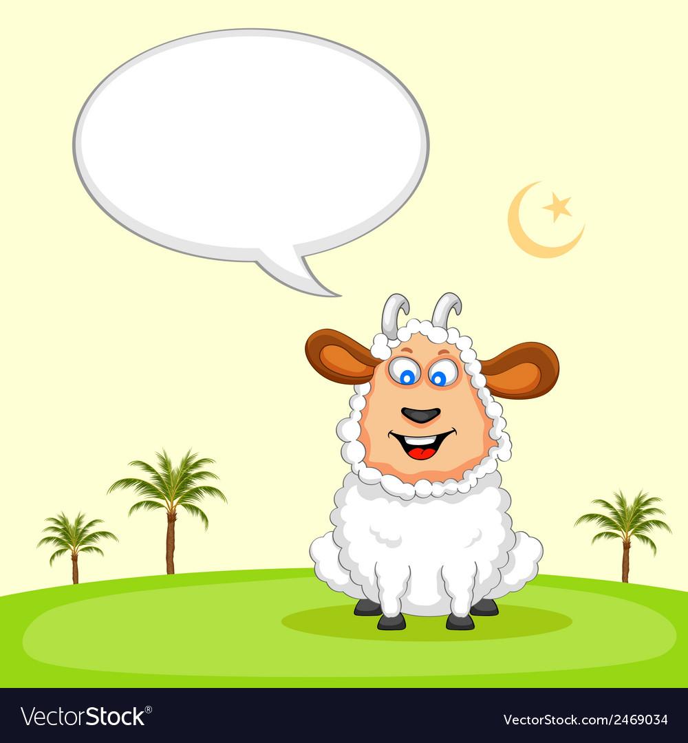Sheep wishing eid mubarak vector | Price: 1 Credit (USD $1)