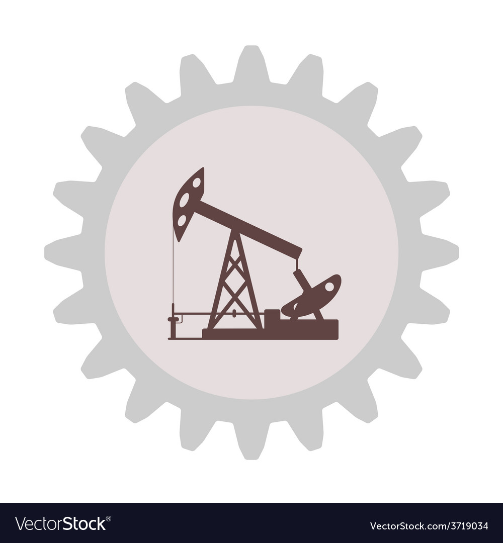 Silhouette of an oil pump gear vector | Price: 1 Credit (USD $1)