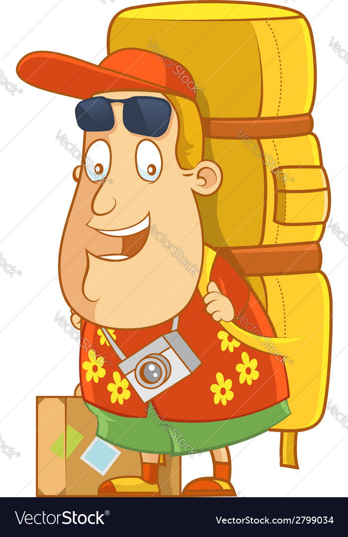 Tourist backpack vector | Price: 1 Credit (USD $1)
