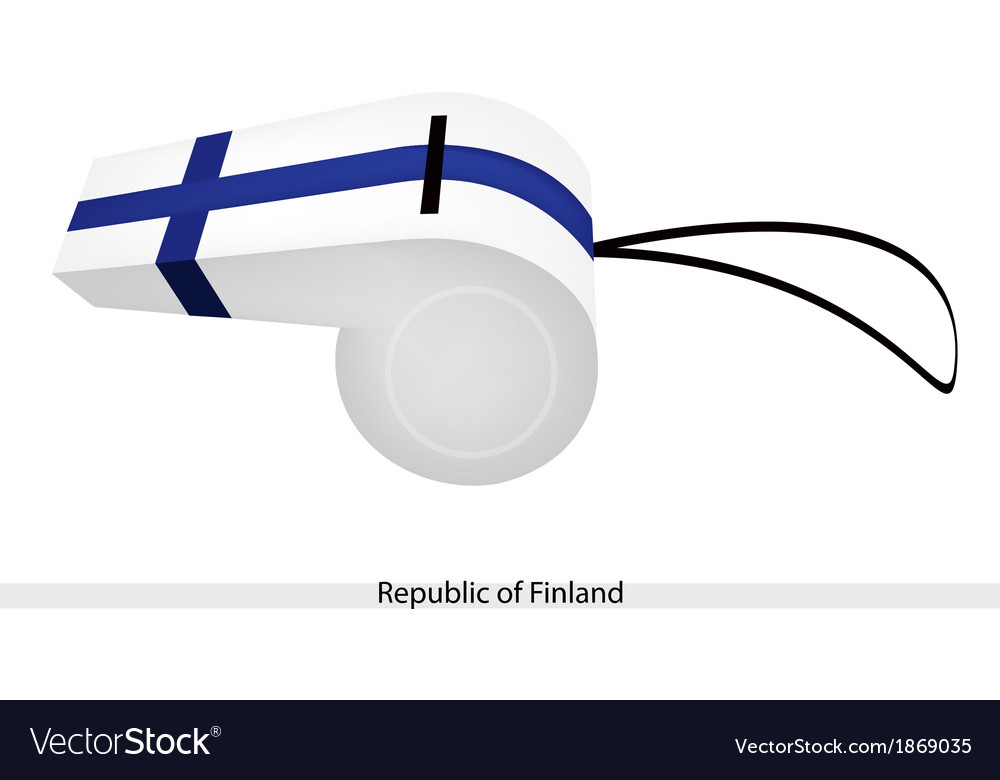 A beautiful whistle of republic of finland vector   Price: 1 Credit (USD $1)