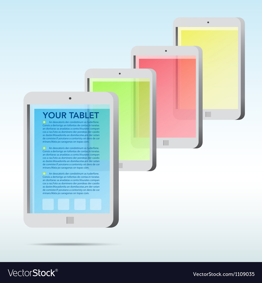 Abstract tablet icon background vector | Price: 1 Credit (USD $1)
