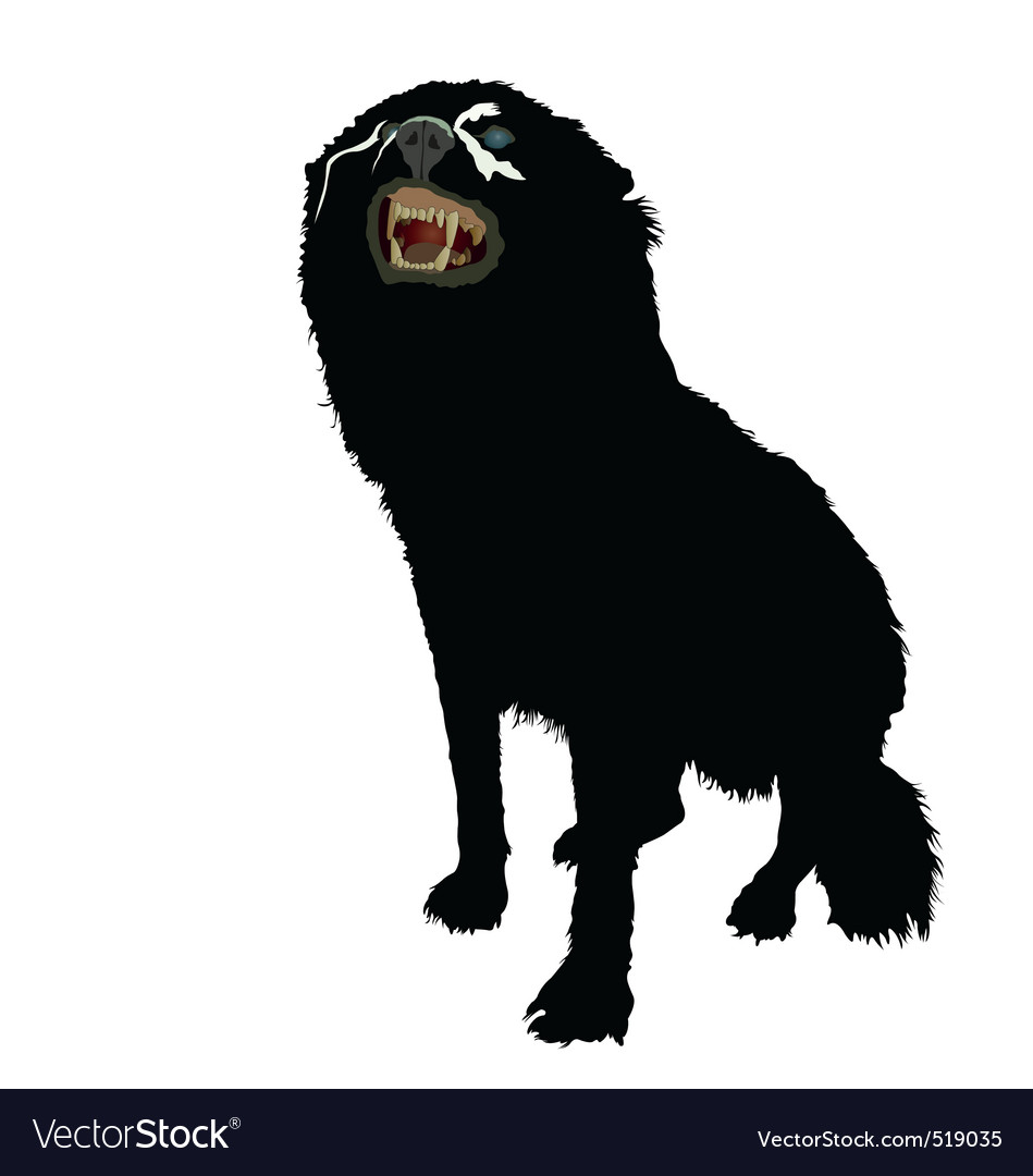 Aggressive dog vector | Price: 1 Credit (USD $1)