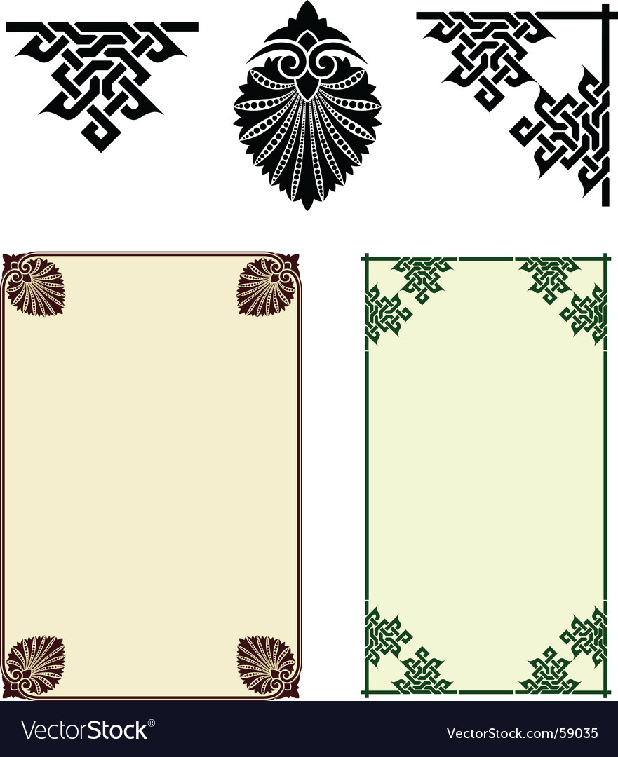 Art nouveau motifs vector | Price: 1 Credit (USD $1)