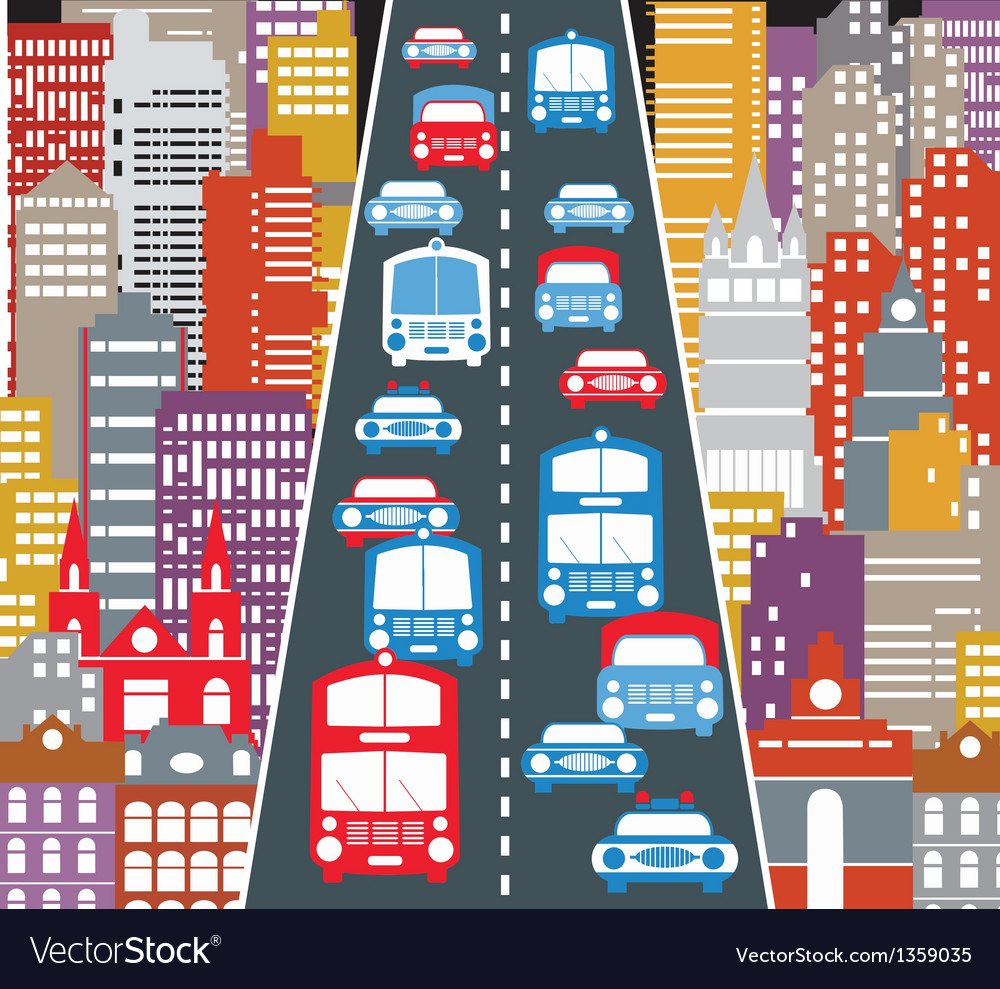 Automobile traffic vector | Price: 3 Credit (USD $3)