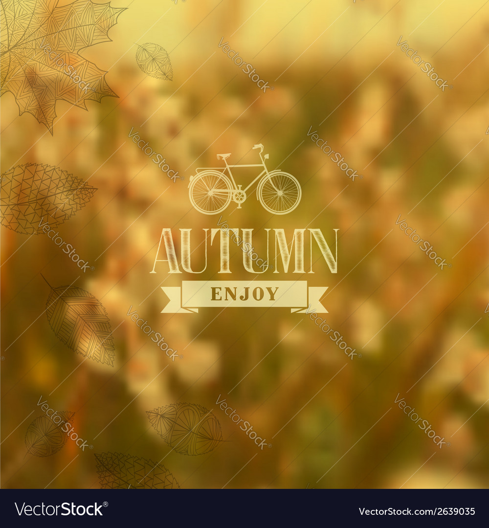 Autumn vintage blurred background vector | Price: 1 Credit (USD $1)