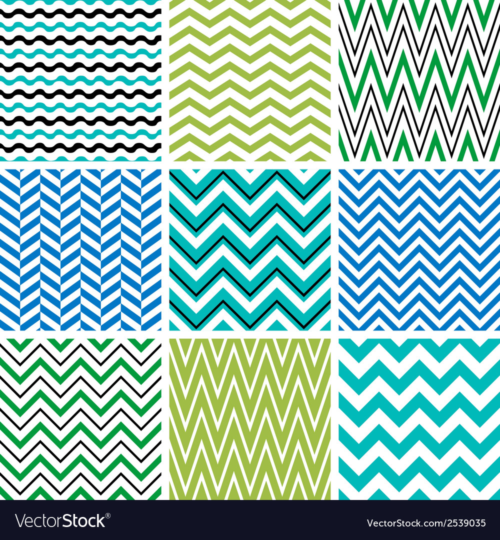 Chevron seamless patterns vector