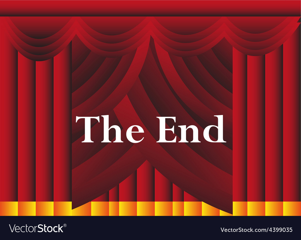 The end curtains background vector | Price: 1 Credit (USD $1)