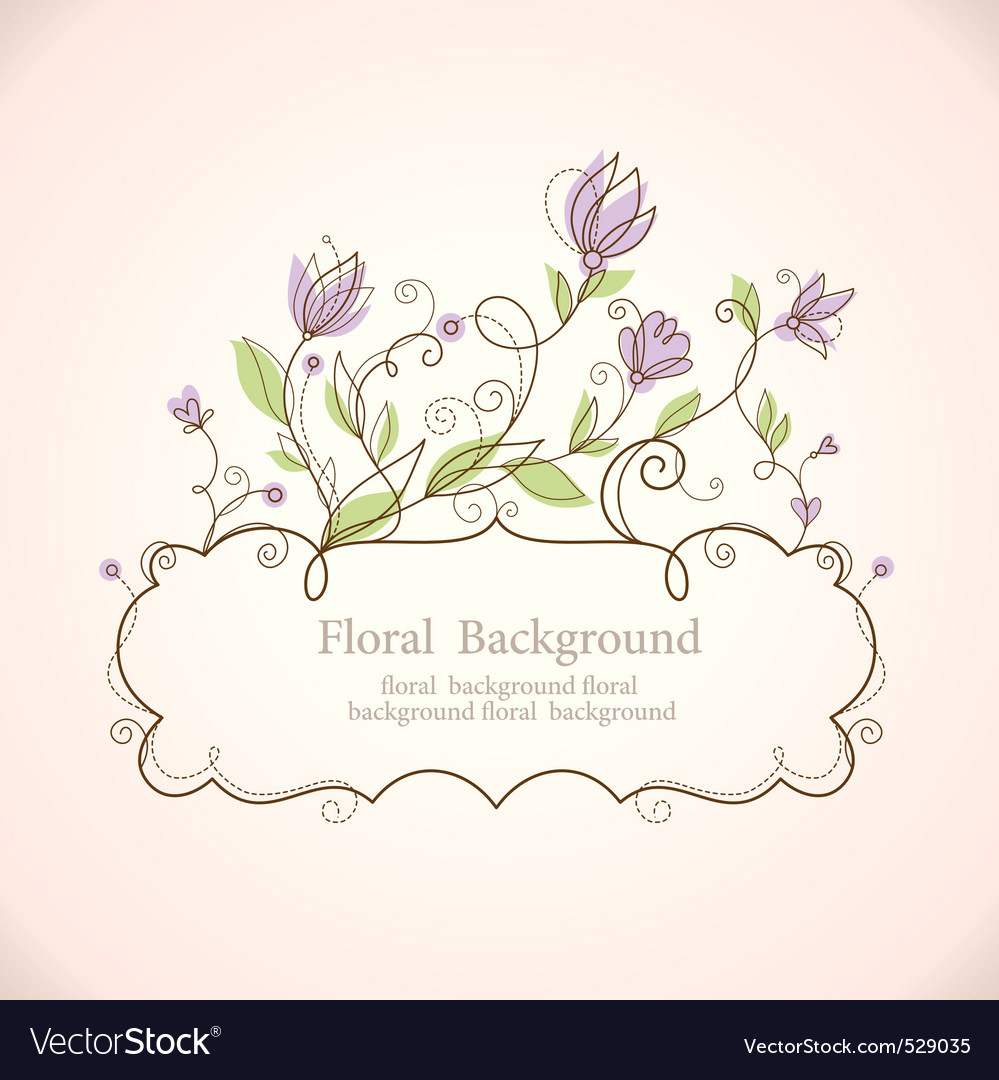 Floral frame vector | Price:  Credit (USD $)