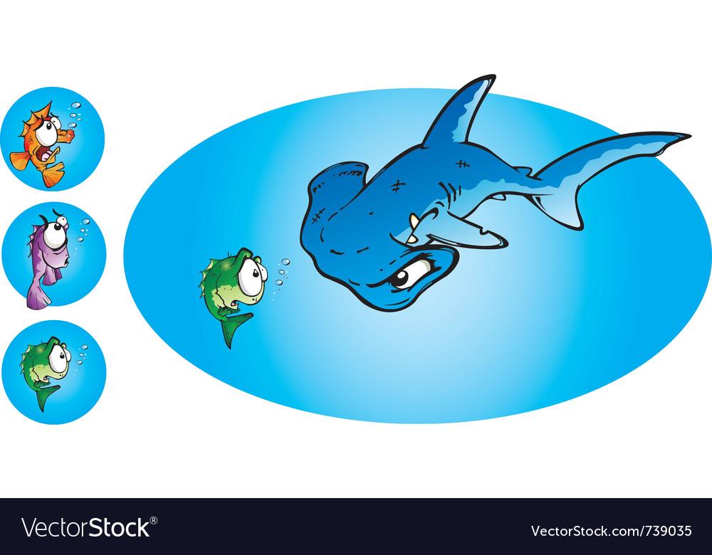 Hammer head shark vector | Price: 3 Credit (USD $3)