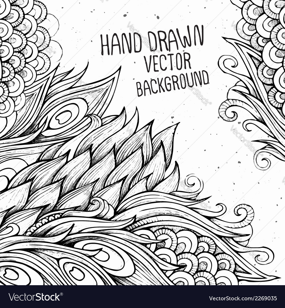 Hand drawn decorative background vector | Price: 1 Credit (USD $1)