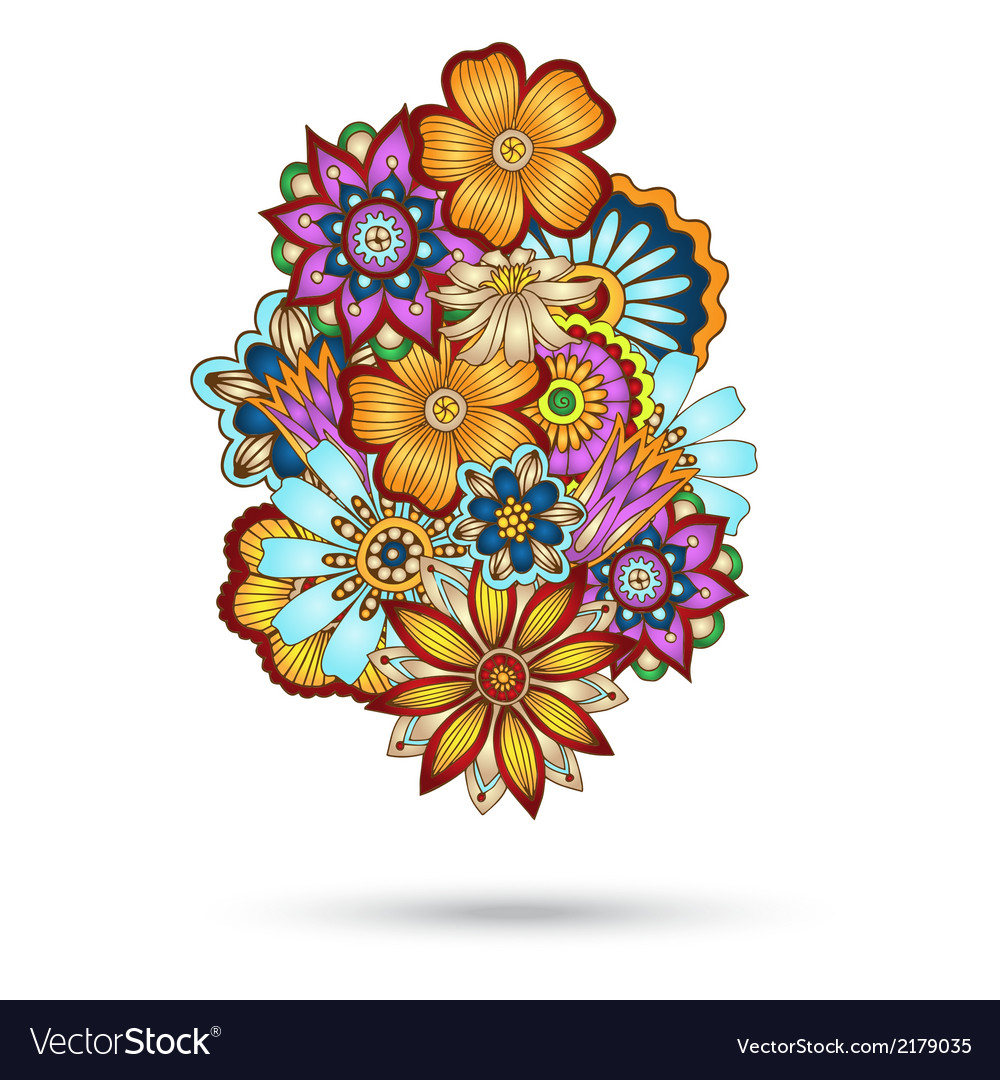 Henna paisley mehndi floral element vector | Price: 1 Credit (USD $1)