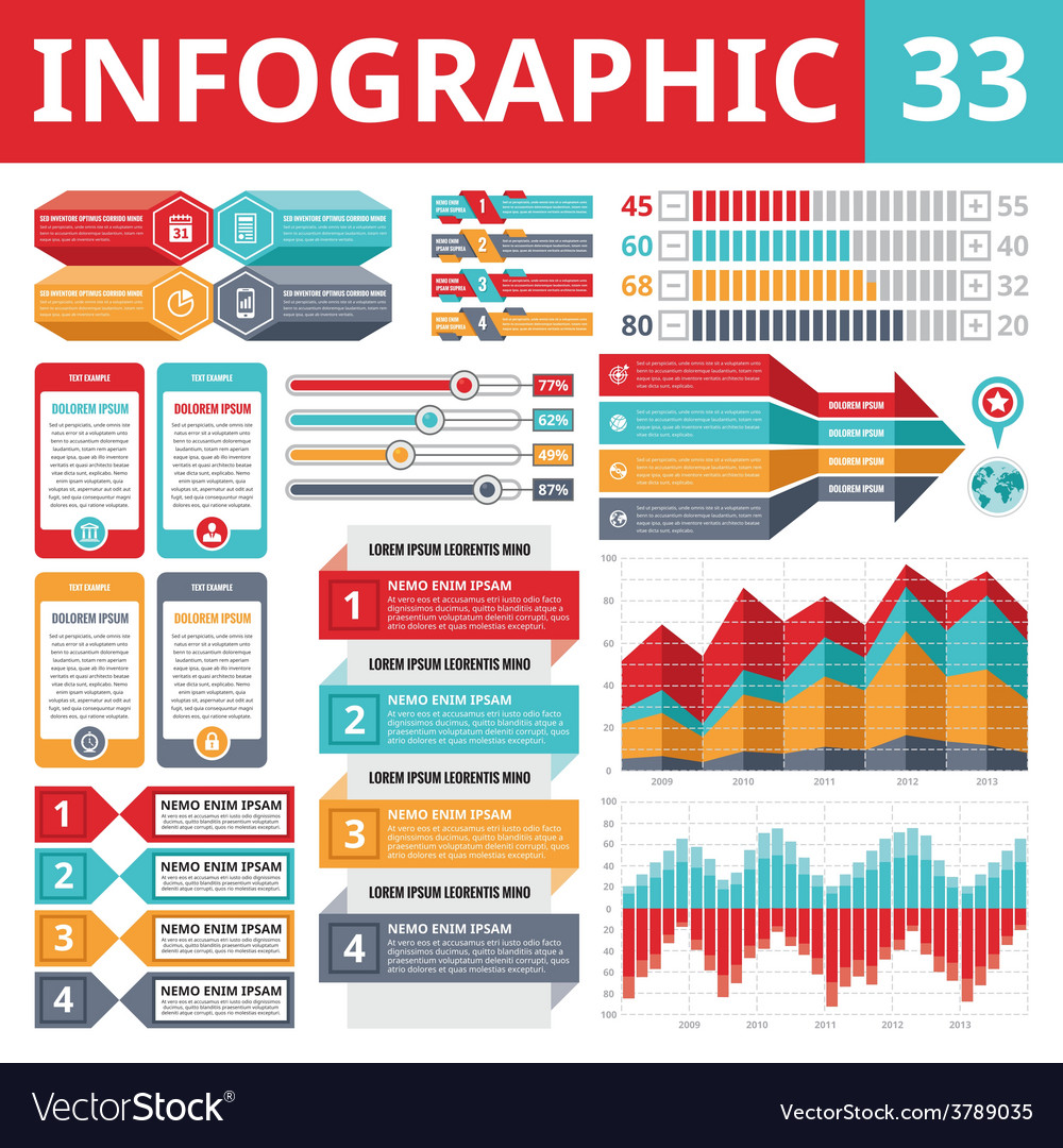 Infographics elements 33 - set of design elements vector | Price: 1 Credit (USD $1)