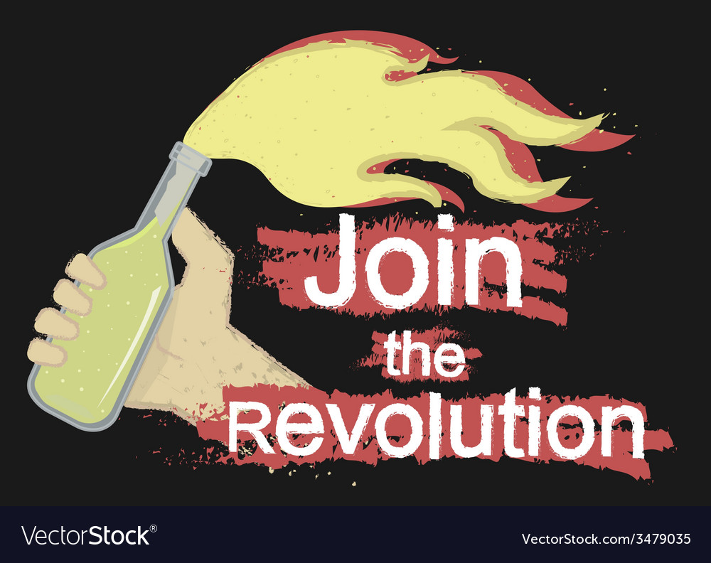 Join the revolution logo on black vector   Price: 1 Credit (USD $1)