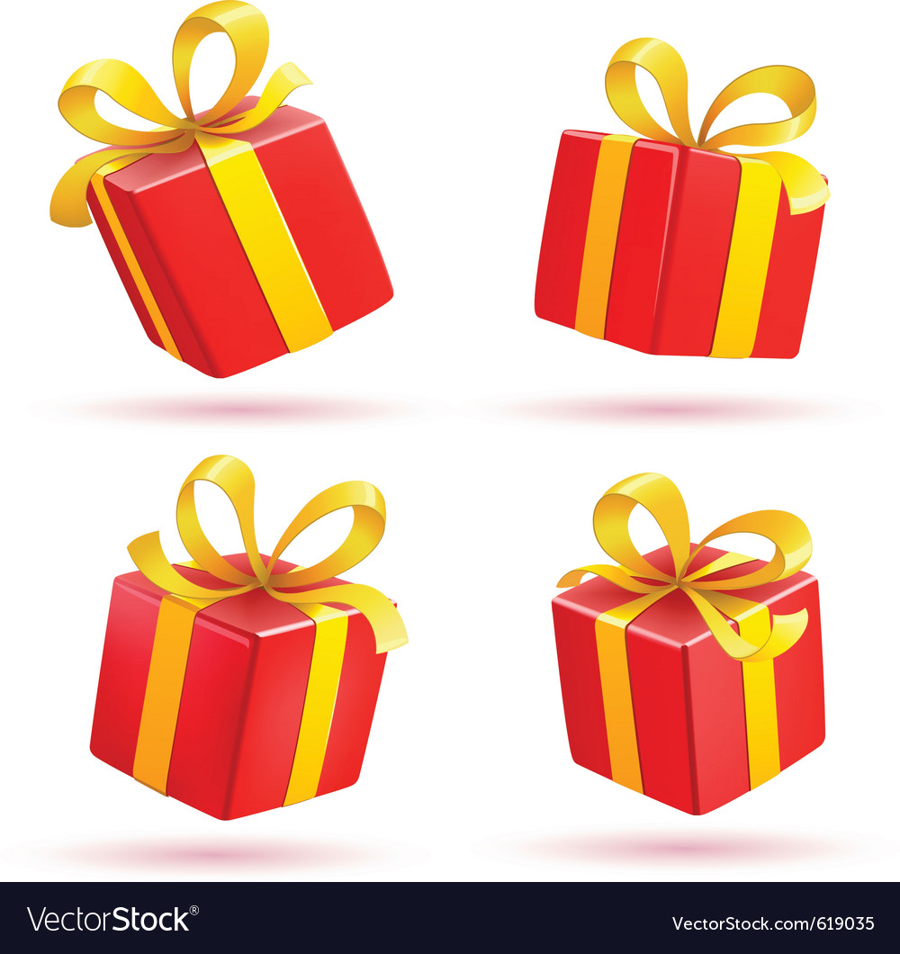 Red gift boxes vector | Price: 3 Credit (USD $3)