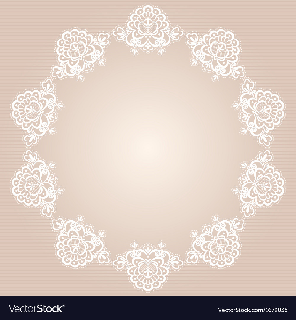 Round doily vector | Price: 1 Credit (USD $1)